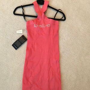 BEBE Bodycon Halter Dress